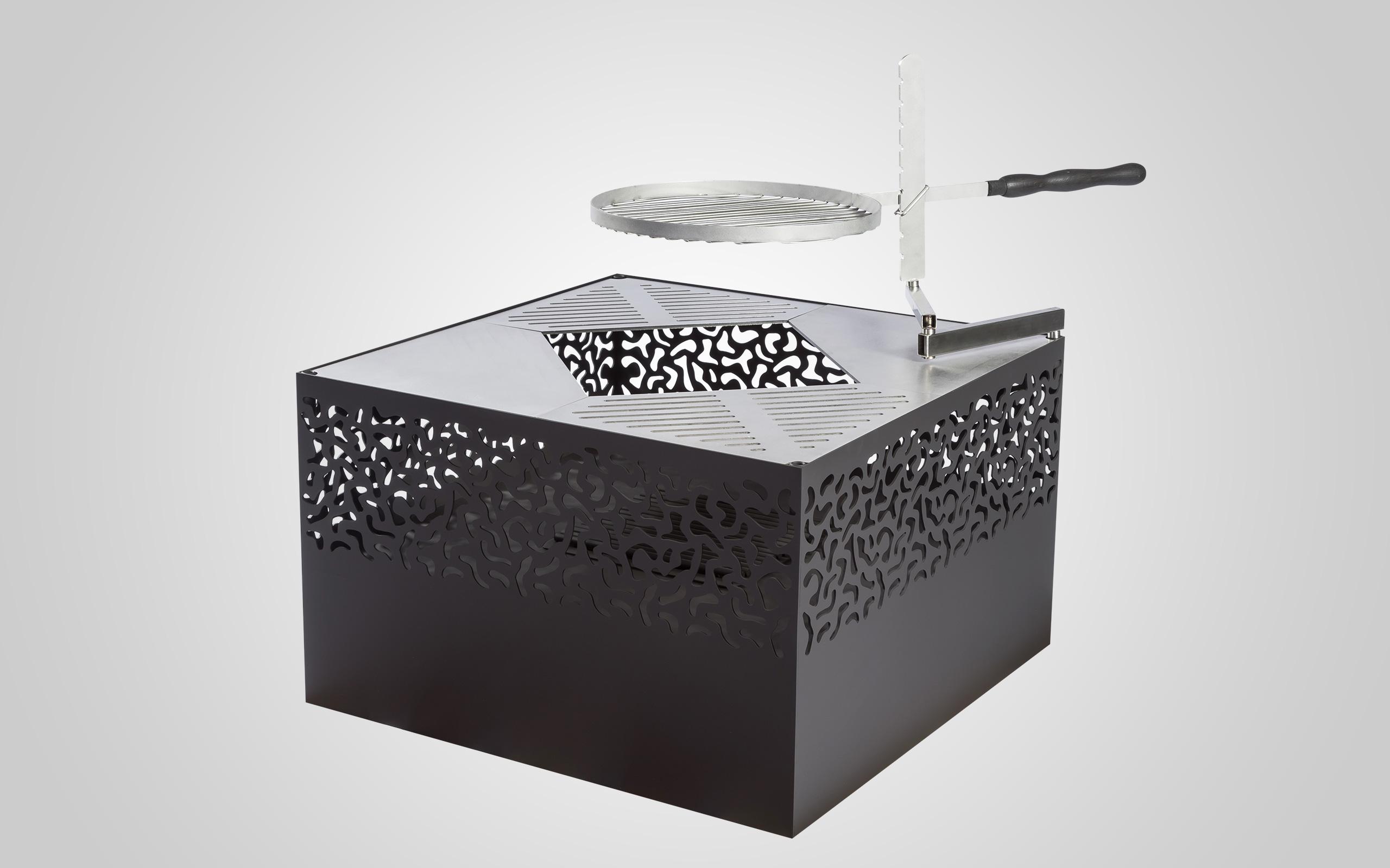 Packshot - Cube 500 mit Grillrost - Feu du Jardin