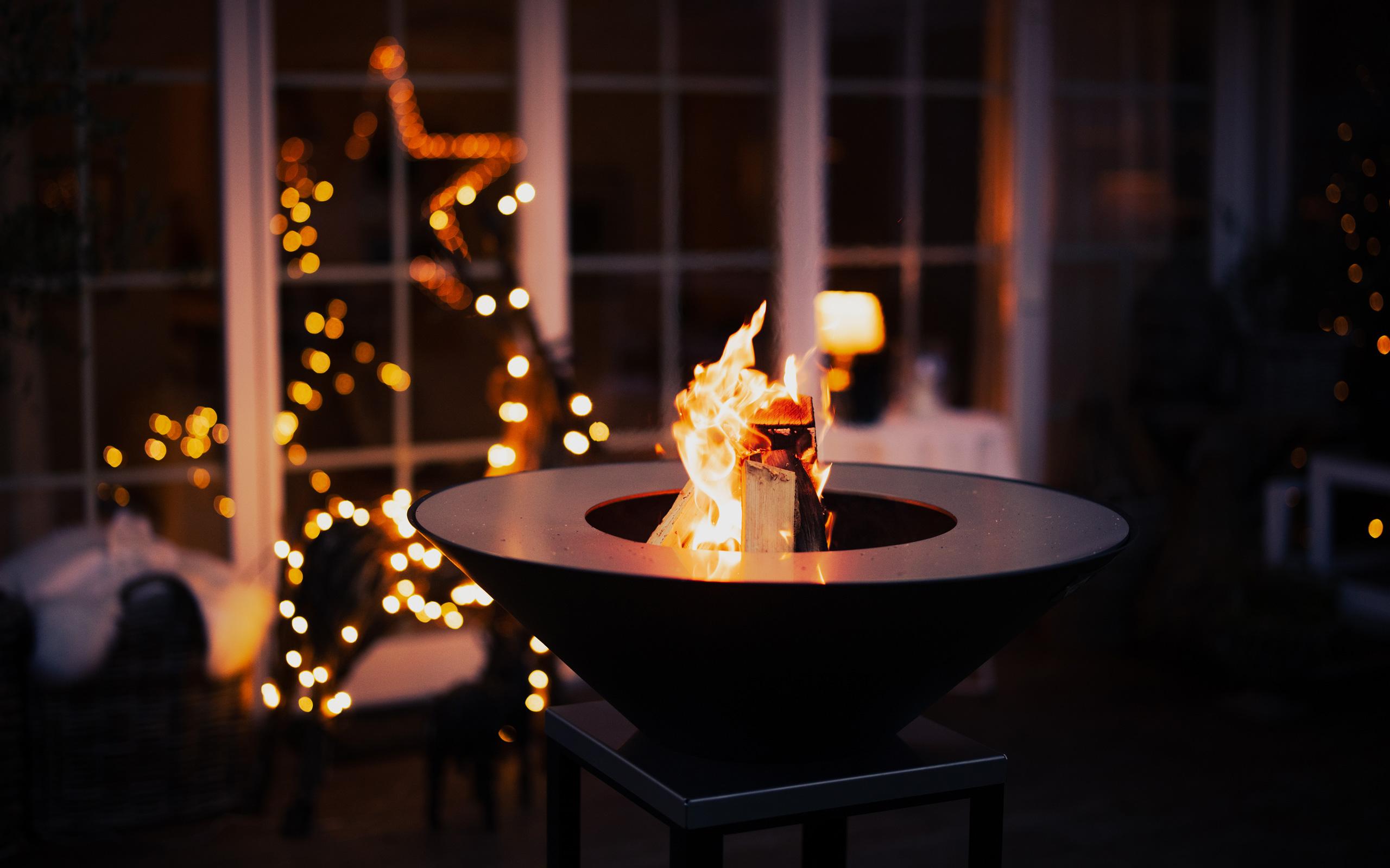 Abendstimmung Gartenfeuer Fyro 80