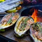 Close Up - Gemüse grillieren - Feuerschale