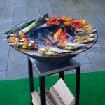 Fisch grillieren auf der Plancha Platte - Feu du Jardin