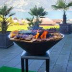 Tolle Aussicht beim Grillieren auf der Feuerschale - Beckenried
