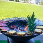 Sommersnack auf der Feuerschale Fyro 80 - Feu du Jardin