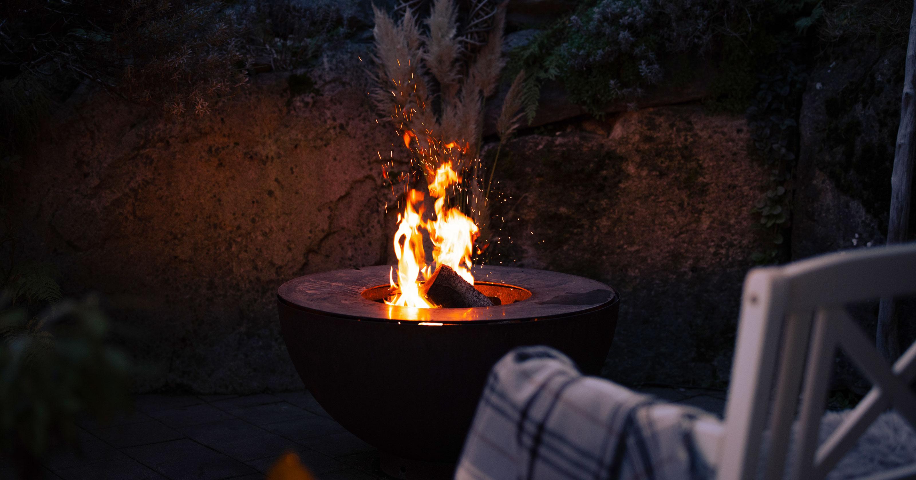 Feuerschale Boule - Winterstimmung